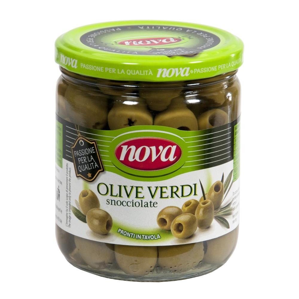 Zielone oliwki drylowane
