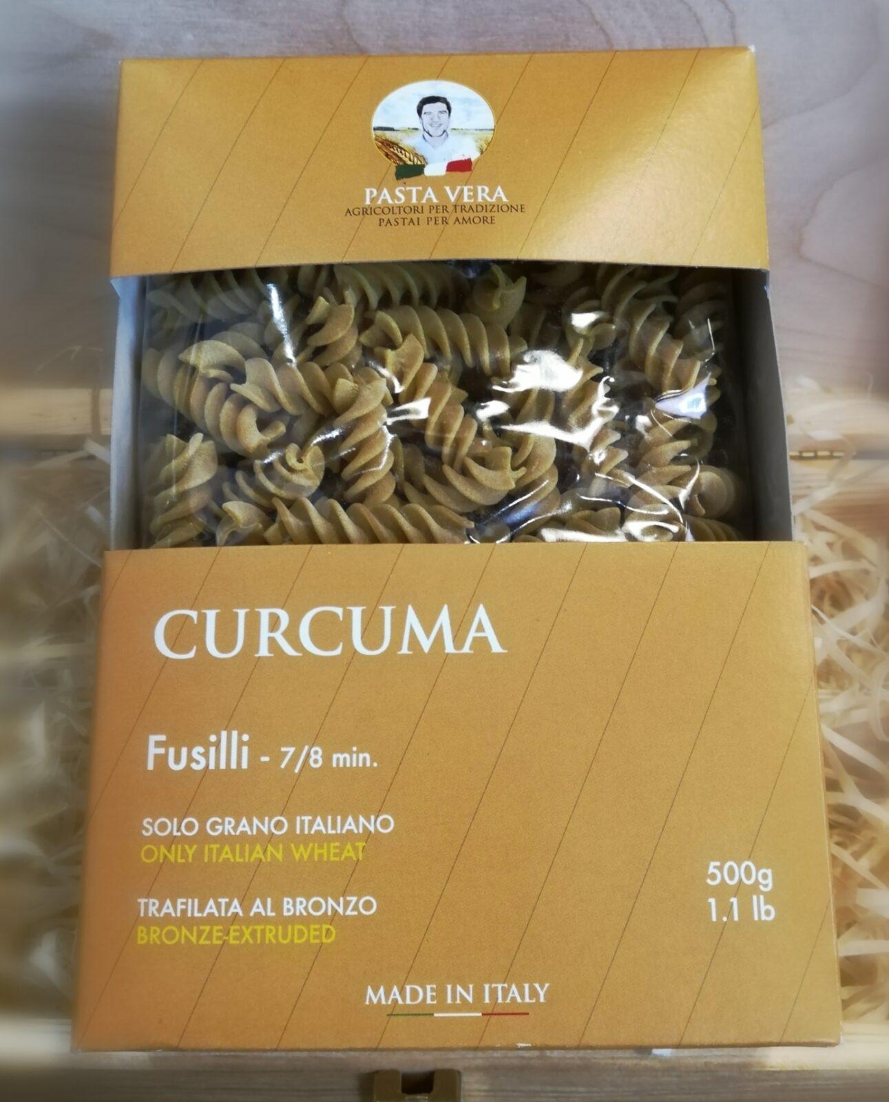 FUSILLI CURCUMA Pasta Vera/Nidemar 500G