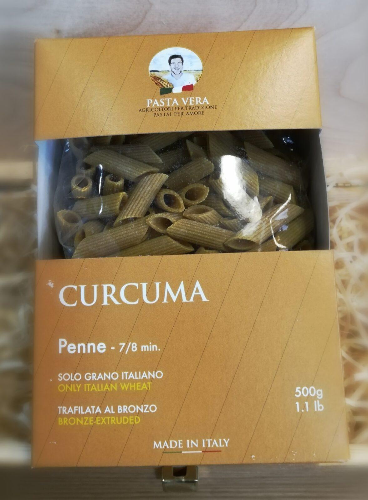 PENNE RIGATE CURCUMA Pasta Vera/Nidemar 500G