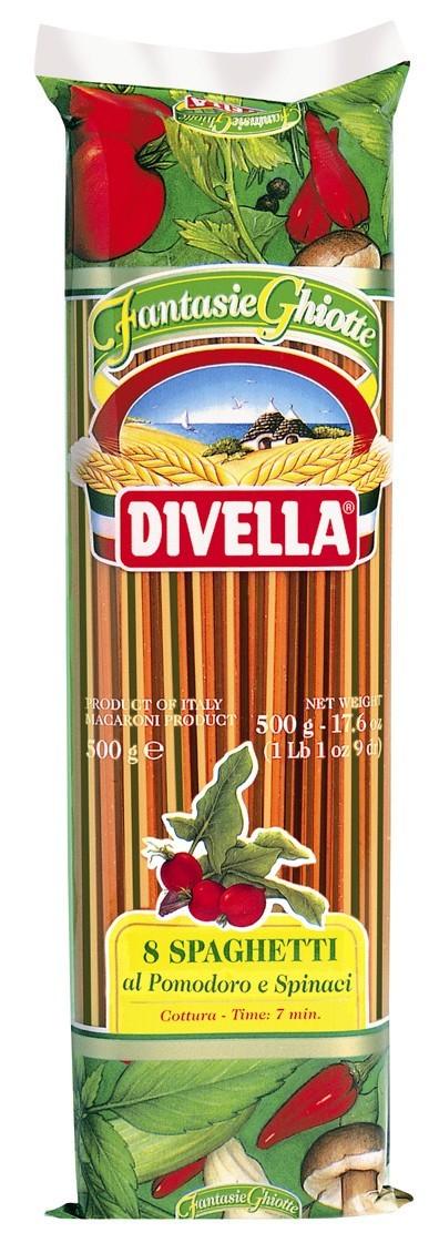 Divella 8 Spaghetti al Pomodoro e Spinaci