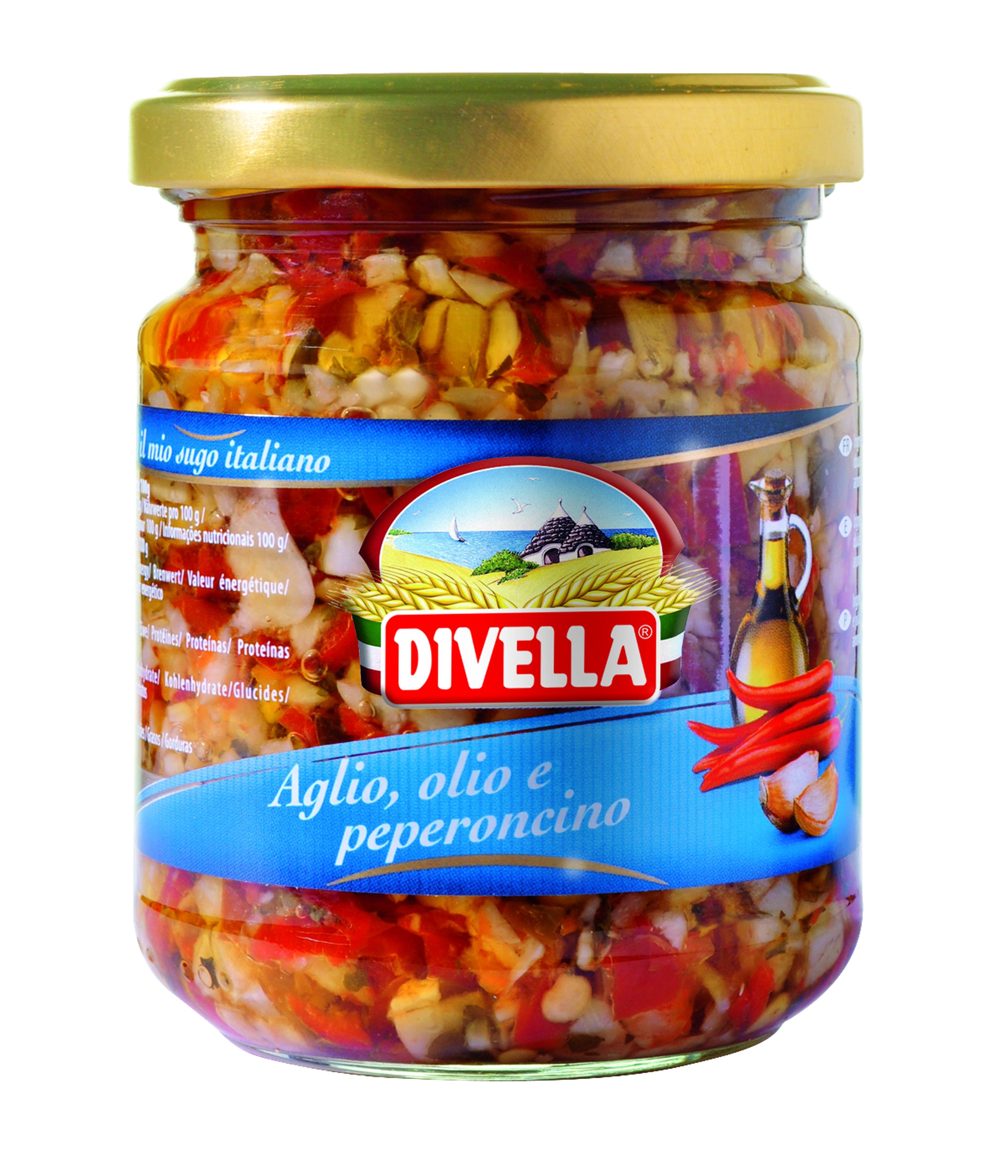 Divella Mix ostra papryka, słodka papryka i czosnek.