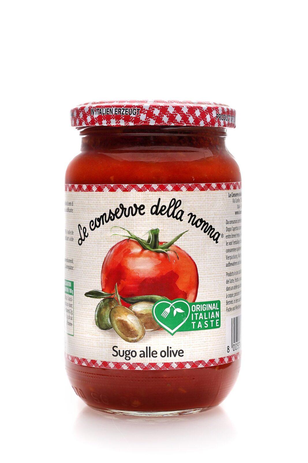 Sos pomidorowy z dodatkiem oliwek