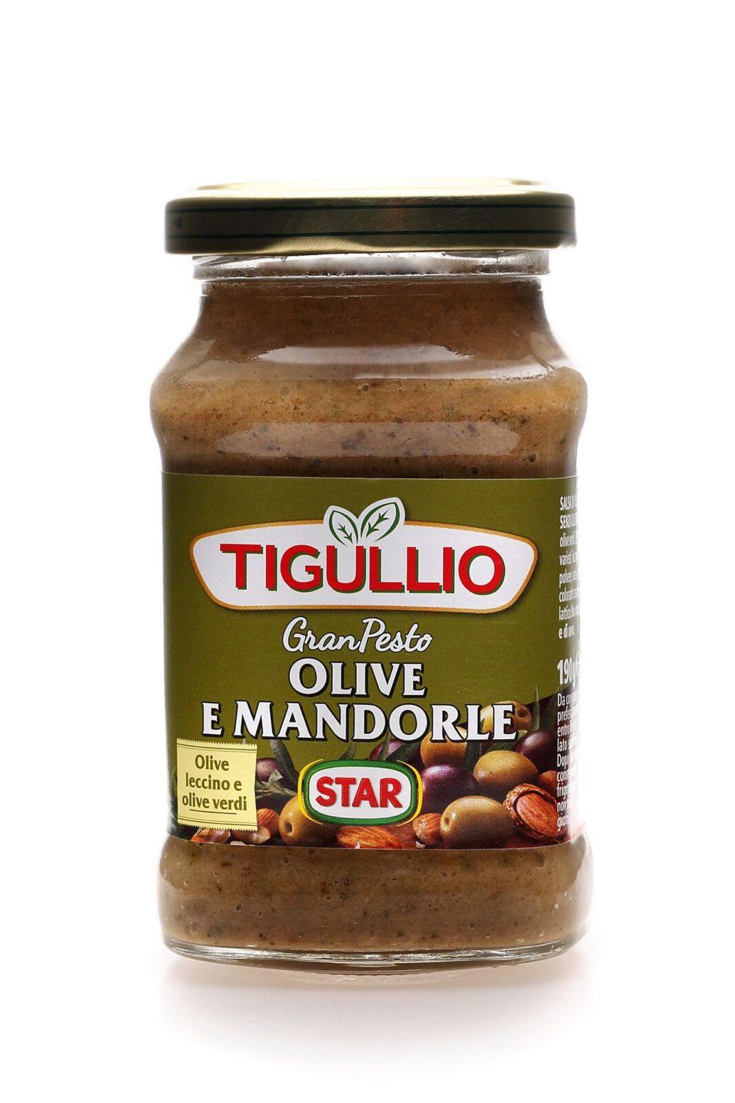 PESTO OLIWKOWE STAR TIGULLIO OLIVE E MANDORLE PESTO 190g