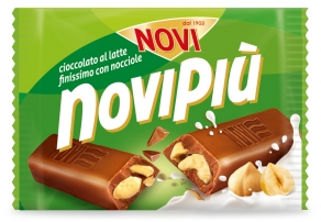 NOVIPIU CIOCCOLATO AL LATTE NOCCIOLE 50G