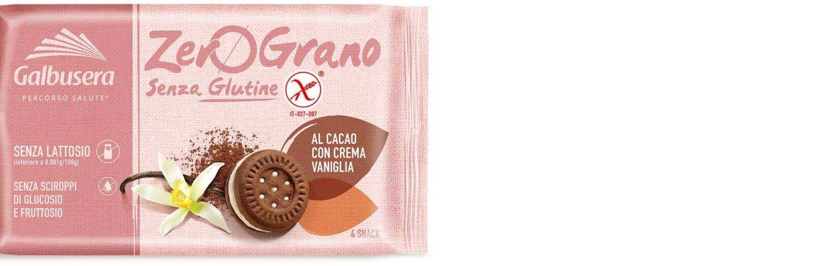 Ciastka z kakao i wanilią Zerograno Galbusera gluten free 160g