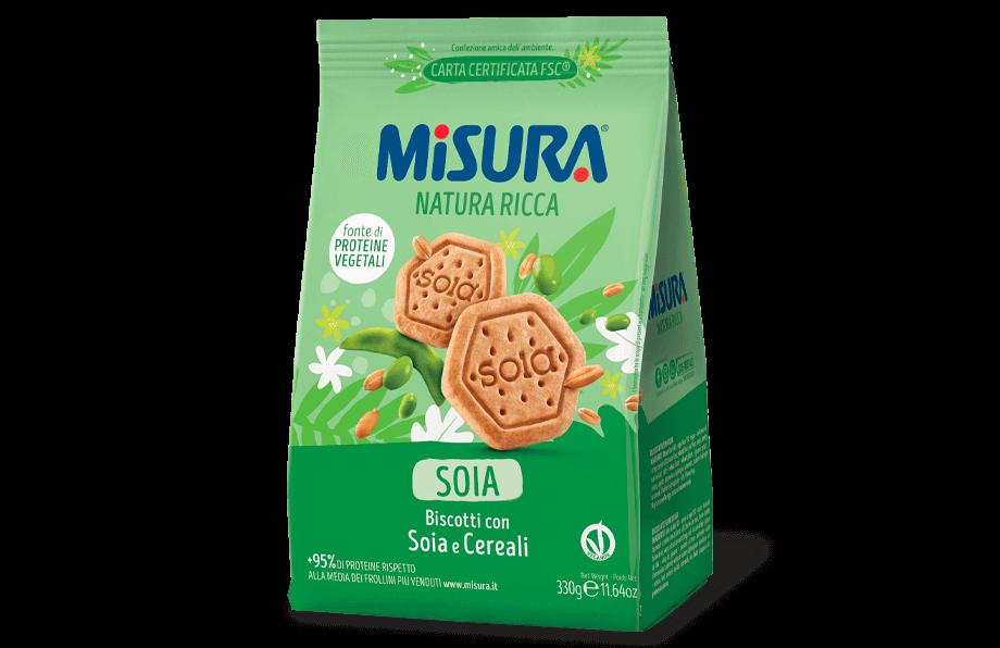 Ciastka sojowe ze zbożem MISURA 330G