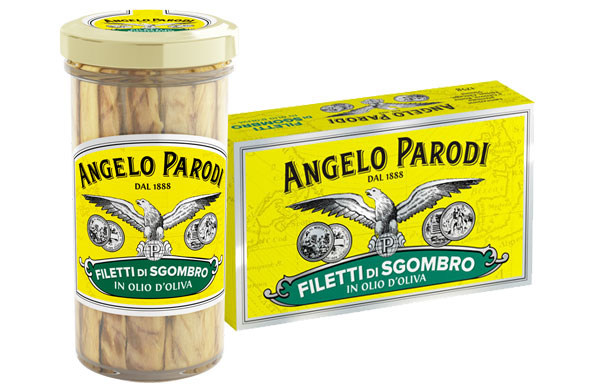 Filety z makreli w oliwie z oliwek ANGELO PARODI 150G