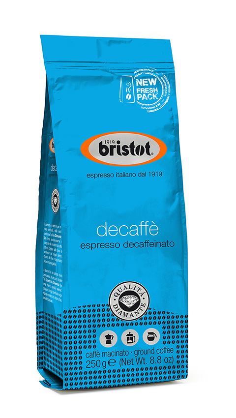 Kawa BRISTOT espresso decaffeinato 250G