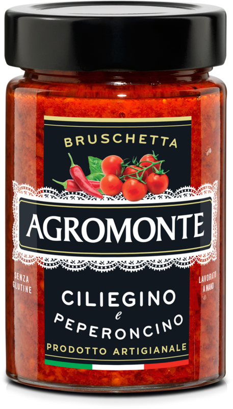 Bruschetta z pomidorami cherry i chilli AGROMONTE 100G