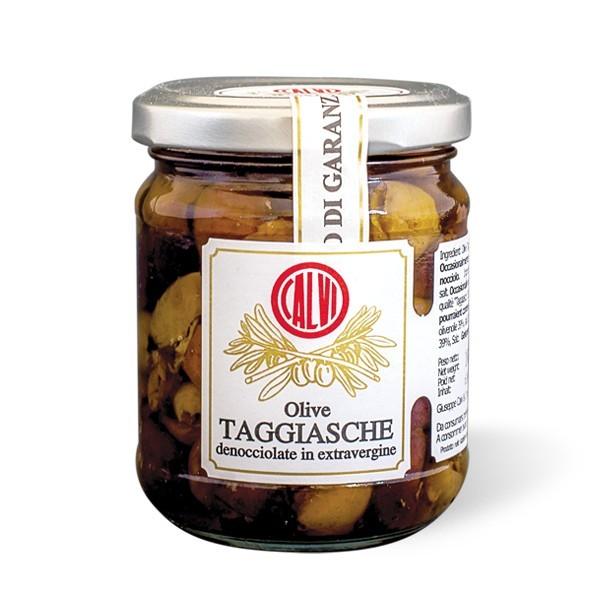 Oliwki Taggiasche bez pestek w oliwie CALVI 180G