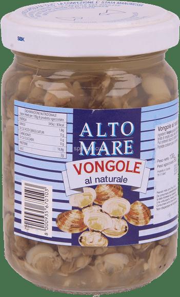 Małże VONGOLE AL NATURALE ALTO MARE 130G